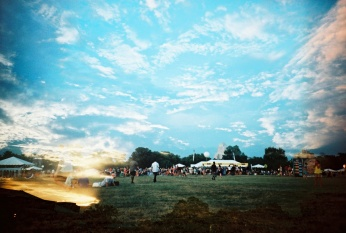 Douple Exposure: LouFest Sunset Day 1